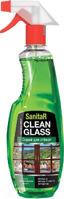Средство для мытья стекол, 2 шт. SanitaR Спрей. Скандинавская весна