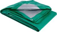 Тент GreenTerra Тарпаулин 4х8 (зеленый/серебристый) -