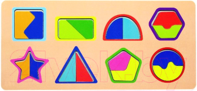 Развивающая игрушка Paremo Вкладыши. Фигуры и Цвета / PE720-97