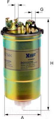 Топливный фильтр Hengst H129WK