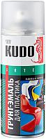 Эмаль Kudo Для пластика RAL 9005 (520мл, черный) -