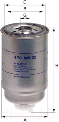 Топливный фильтр Hengst H70WK02