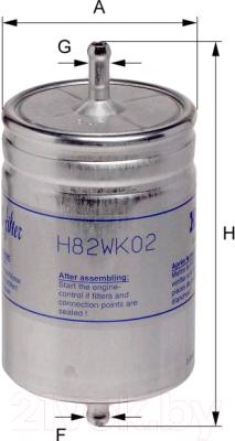 Топливный фильтр Hengst H82WK02