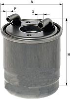 Топливный фильтр Hengst H331WK -