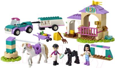 Конструктор Lego Friends Тренировка лошади и прицеп для перевозки 41441