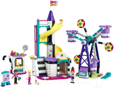 Конструктор Lego Friends Волшебное колесо обозрения и горка 41689