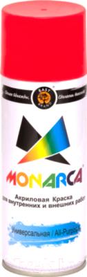 Краска Monarca Универсальная RAL 3020 (520мл, светофорно-красный)