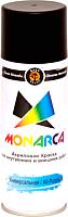 Краска Monarca Универсальная RAL 9005 (400мл, черный глянцевый) -