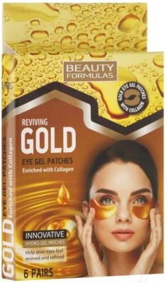 Патчи под глаза Beauty Formulas Гелевые c золотом