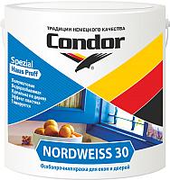 Краска CONDOR Nordweiss 30 (3кг, белый) -