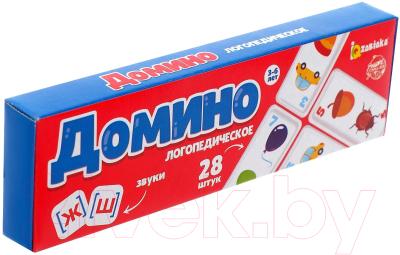 Развивающая игра Zabiaka Логопедическое домино. Звуки Ж, Ш / 6385371