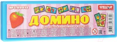 Развивающая игра Stellar Домино в футляре. Фрукты / 00012 развивающая игра домино пазлы читазлы фрукты овощи и ягоды 4