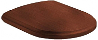Сиденье для унитаза Villeroy & Boch Hommage 9926-66-00 (орех/латунь) -