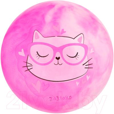 Мяч детский Zabiaka Кошечка в очках / 4160700