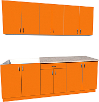 Готовая кухня Хоум Лайн Агата 2.2 (оранжевый) -