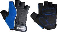 Перчатки для пауэрлифтинга Starfit SU-108 (XL, синий/черный) -