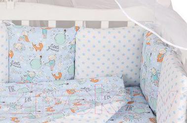 Комплект постельный в кроватку Amarobaby Premium Маленький принц / AMARO-3018-MPr