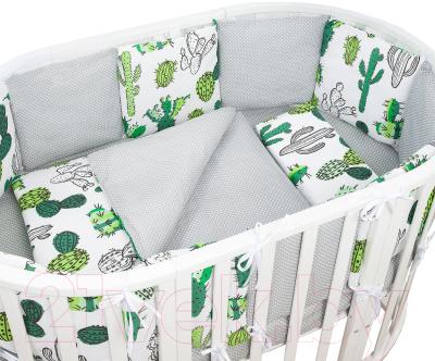 Комплект постельный в кроватку Amarobaby Кактусы