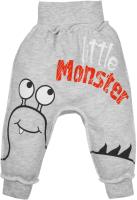 Штаны для младенцев Amarobaby Monsters / AMARO-ODM6-S0-56 (серый, р. 56) -