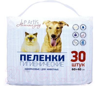 Одноразовая пеленка для животных Le Artis 60x40 (30шт)