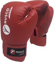 Боксерские перчатки RuscoSport 4oz (красный) -