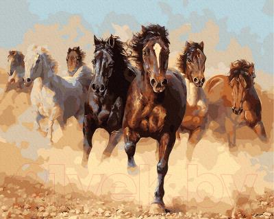Картина по номерам Farba Табун лошадей / DAB-8945