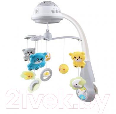 Мобиль на кроватку Baby Mix Медвежата с проектором / 35728