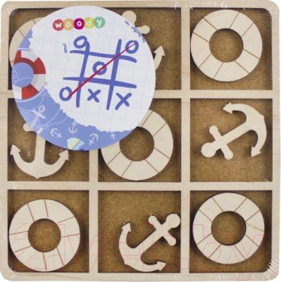Развивающая игра Woody Крестики-нолики. Якорь и круг / 02536