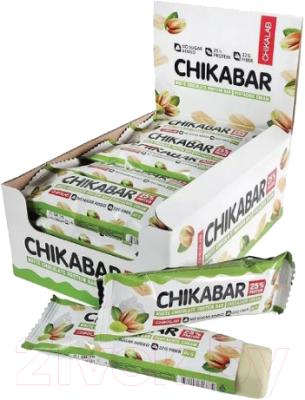 Протеиновые батончики Chikalab Фисташковый крем