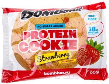 Протеиновое печенье Bombbar Клубника