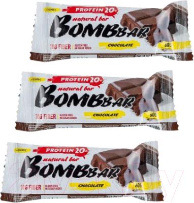 Протеиновые батончики Bombbar Двойной шоколад