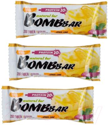 Протеиновые батончики Bombbar Лимонный торт