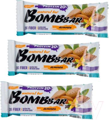 Протеиновые батончики Bombbar Миндаль-ваниль