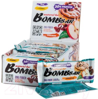 Протеиновые батончики Bombbar Яблоко-корица