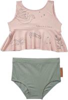 Купальник детский Happy Baby Двухпредметный / 50611 (розовый/зеленый, р.104-110) -
