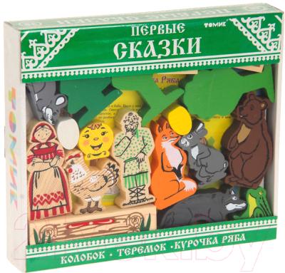 Развивающая игрушка Томик Первые сказки. Колобок, курочка ряба, теремок / 453-2