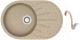 Мойка кухонная Berge BR-7501 + смеситель GR-4003 (песочный/классик) -
