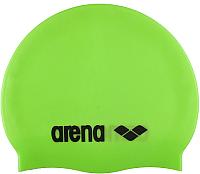 Шапочка для плавания ARENA Classic Silicone JR 91670 65 (Acid lime/Black) -