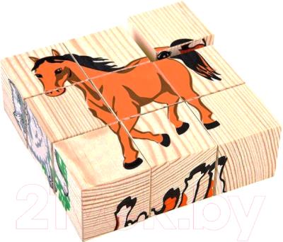 Развивающая игрушка Томик Кубики. Домашние животные 4444-3