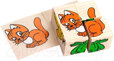 Развивающая игрушка Томик Кубики. Животные 3333-1