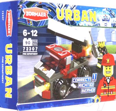 Конструктор Zormaer Пожарная техника. Пожарная машина с лестницей / 79812