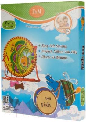 Набор для шитья Делай с мамой Шьем сумку. Рыбка. Летающие Звери / 57035