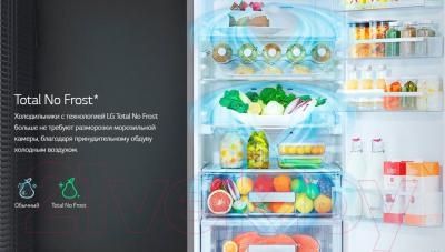 Холодильник с морозильником LG GA-B419SLGL