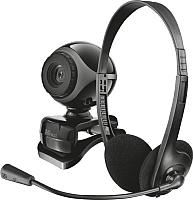 Веб-камера+гарнитура Trust Exis Chatpack Black / 17028 -