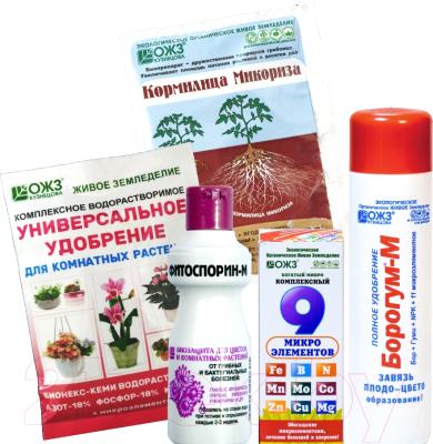 Набор средств защиты растений ОЖЗ Цветение комнатных растений