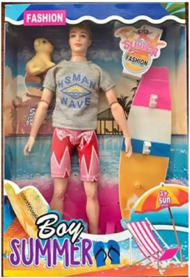 Кукла с аксессуарами Наша игрушка Пляжный отдых / 3363-162
