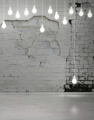 Фотообои листовые Citydecor Лампочки 3D