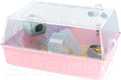 Клетка для грызунов Ferplast Mini Duna Hamster / 57075499 (розовый)