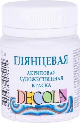 Акриловая краска Decola Белая глянцевая / 2928104