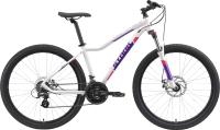 Велосипед STARK Viva 27.2 HD 2021 (14.5, белый/фиолетовый) -